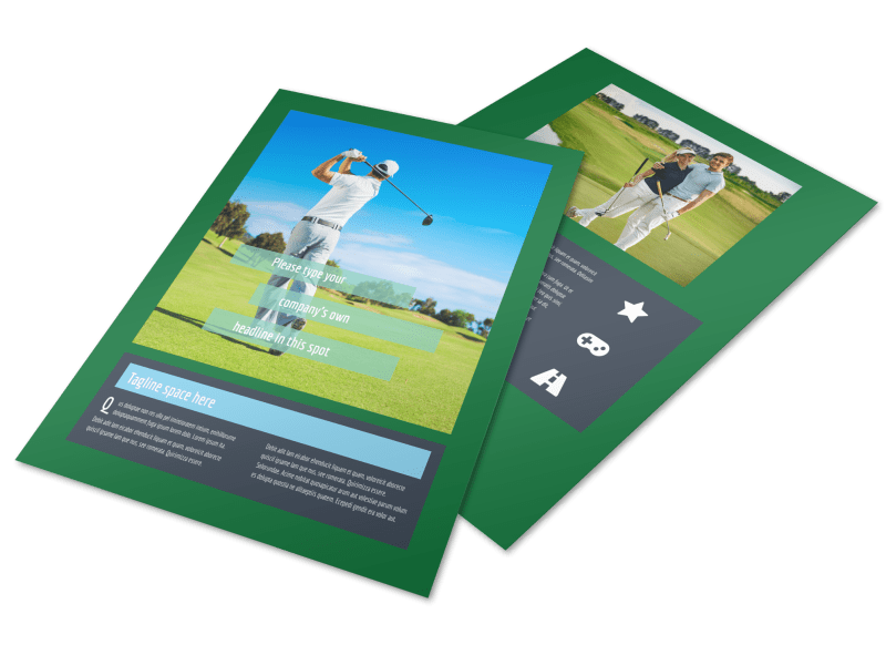 Local Golf Tournament Flyer Template Preview 1