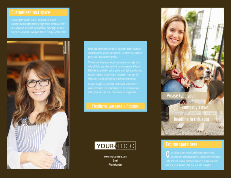 Pet Store Brochure Template Preview 2