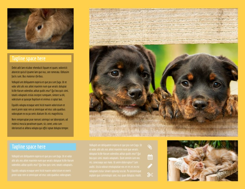 Pet Store Brochure Template Preview 3