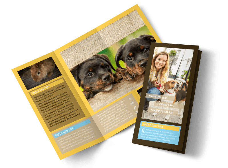 Pet Store Brochure Template Preview 1
