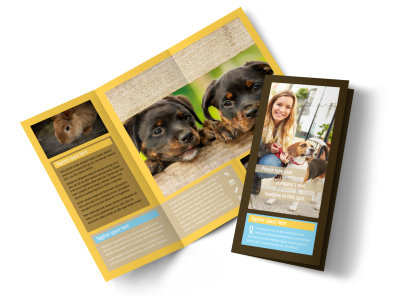 Pet Store Tri-Fold Brochure Template