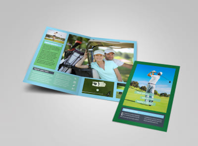 Local Golf Tournament Bi Fold Brochure Template