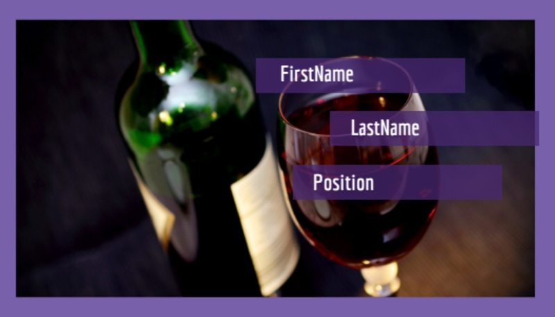 Vineyard & Winery Business Card Template Preview 2