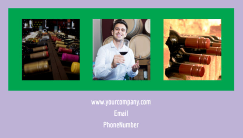 Vineyard & Winery Business Card Template Preview 3
