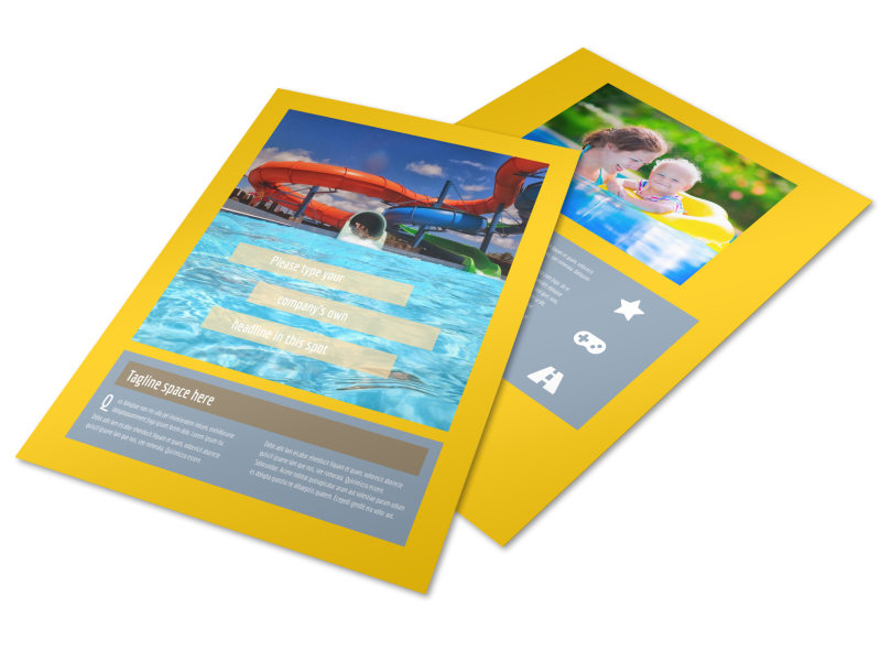 Summer Water Parks Flyer Template