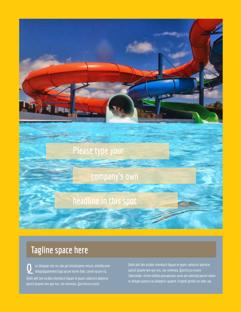 Summer Water Parks Flyer Template Preview 2