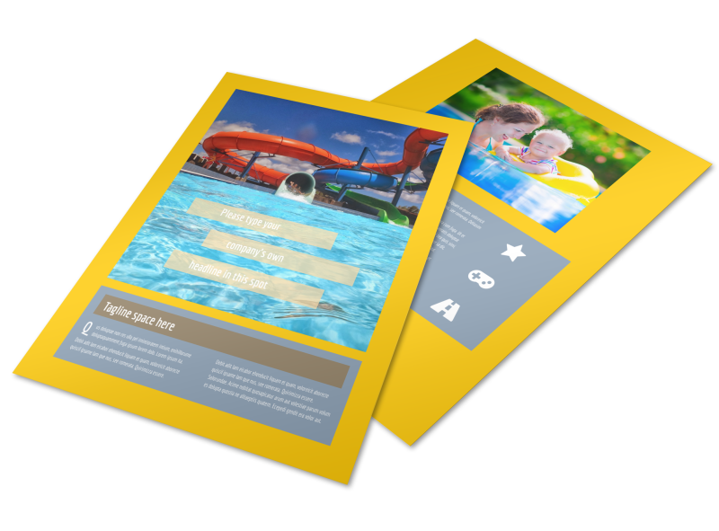 Summer Water Parks Flyer Template Preview 1