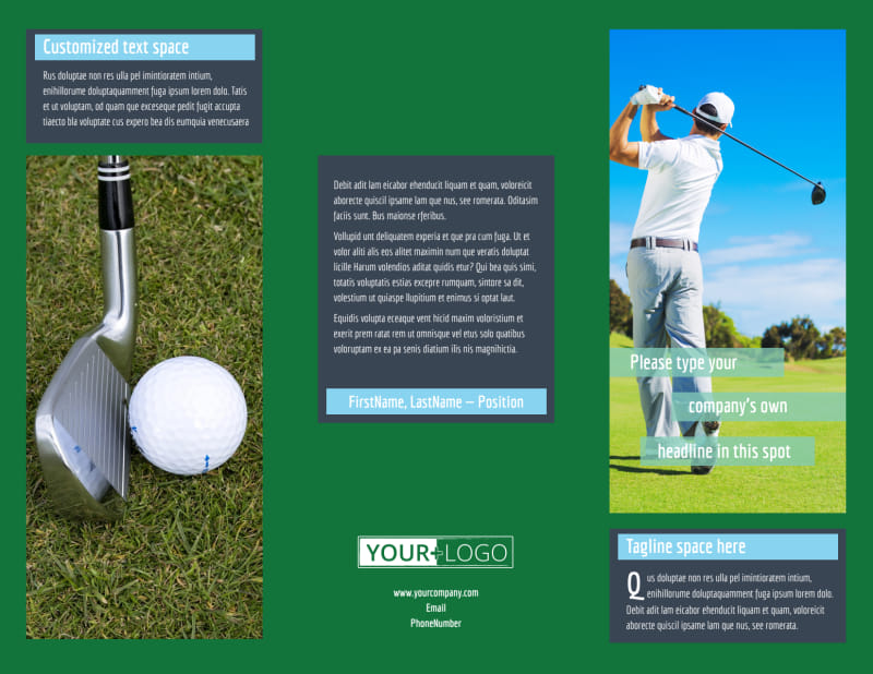 Local Golf Tournament Brochure Template Preview 2