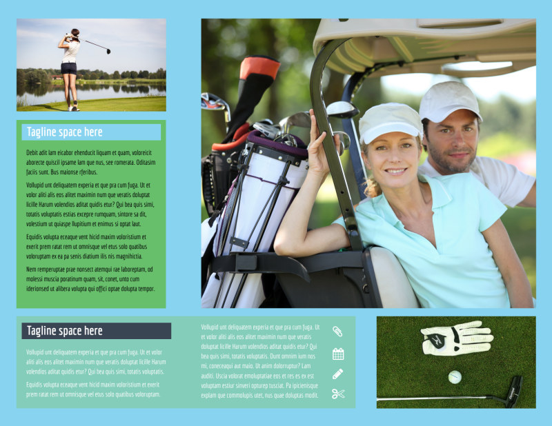 Local Golf Tournament Brochure Template Preview 3