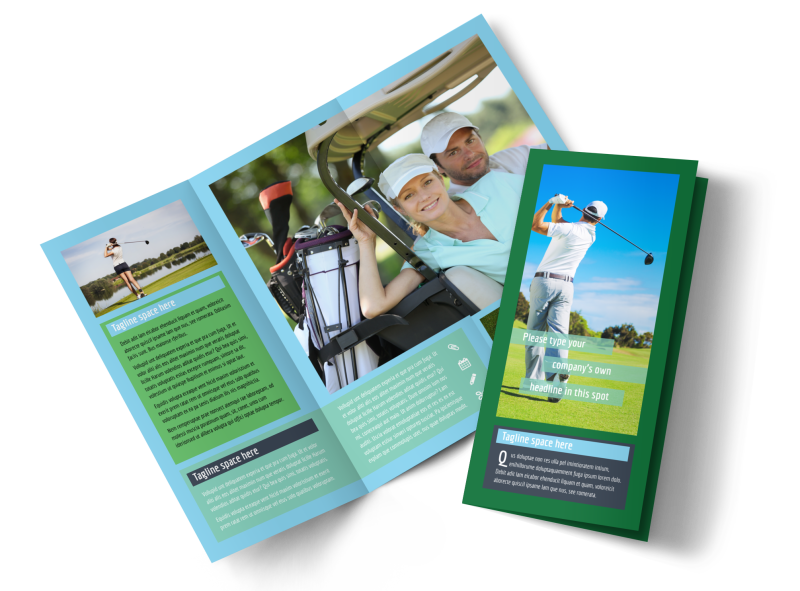 Local Golf Tournament Brochure Template Preview 1
