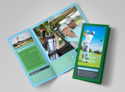 Local Golf Tournament Tri-Fold Brochure Template