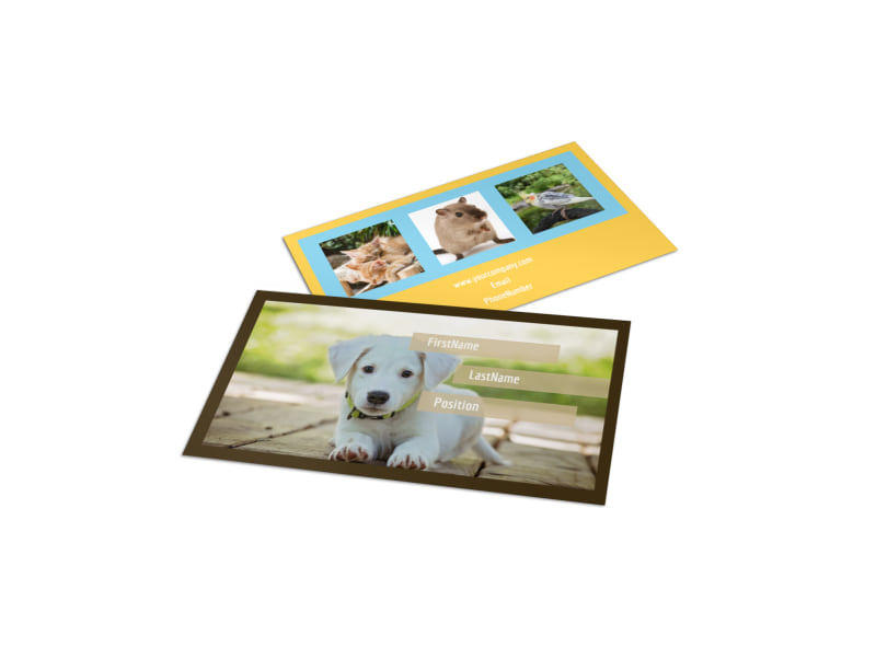 Pet Store Business Card Template