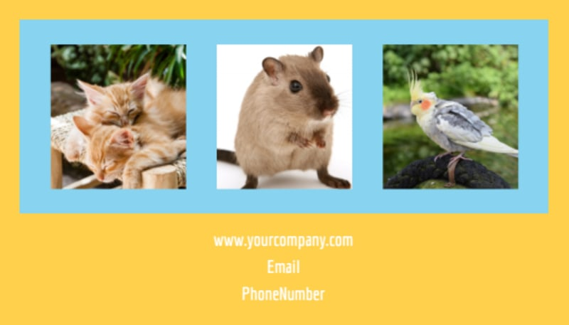 Pet Store Business Card Template Preview 3