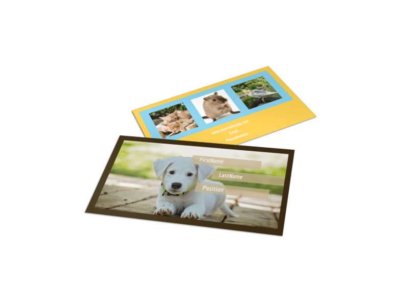 Pet Store Business Card Template Preview 1