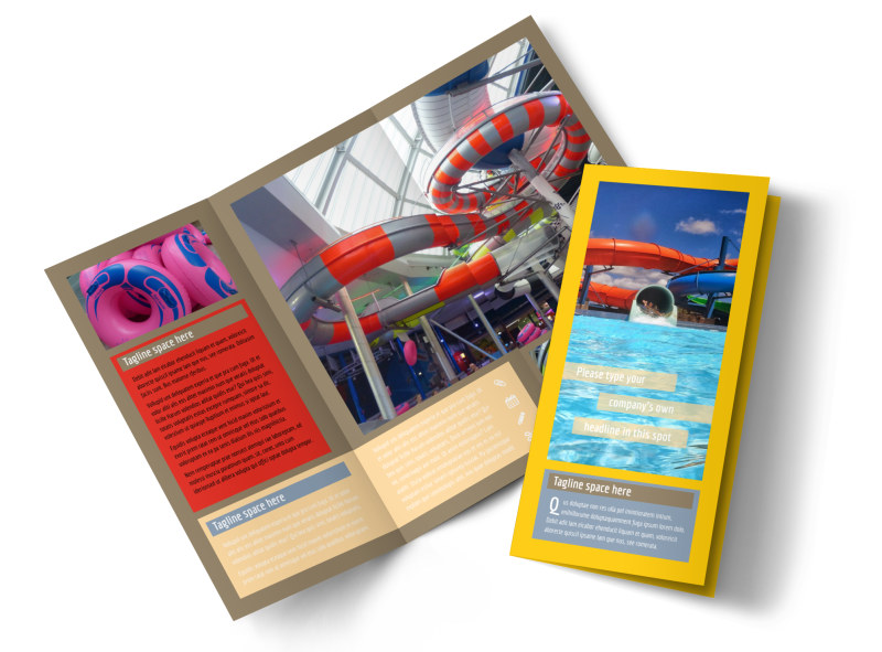Summer water parks brochure template mycreativeshop for Water brochure template