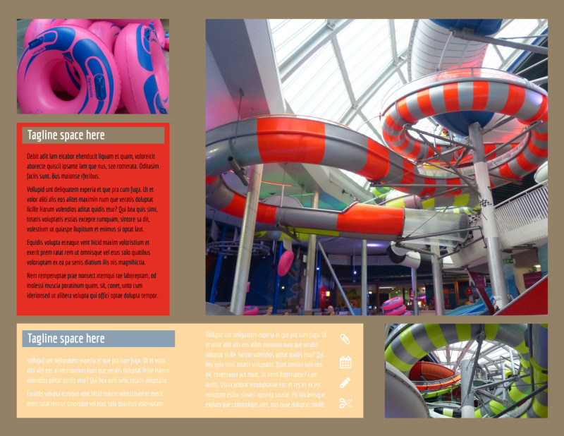 Summer Water Parks Brochure Template Preview 3