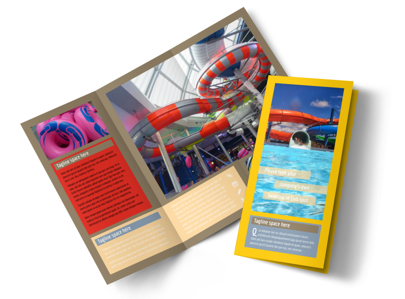 Summer Water Parks Brochure Template Preview 1