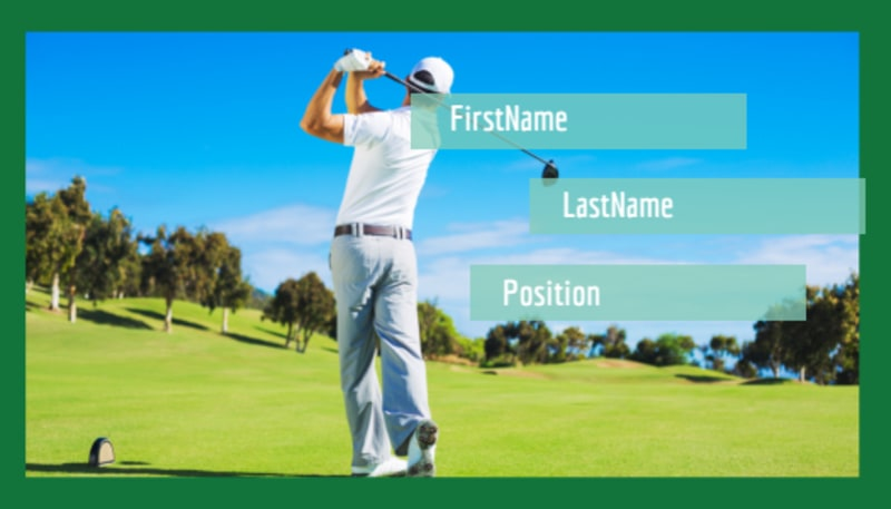 Local Golf Tournament Business Card Template Preview 2
