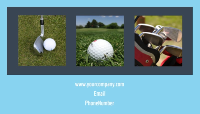 Local Golf Tournament Business Card Template Preview 3