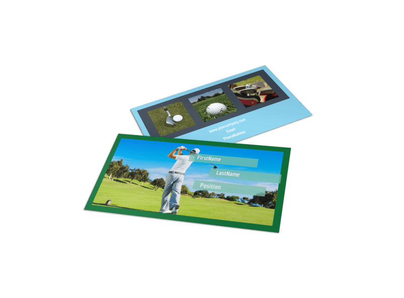 Local Golf Tournament Business Card Template Preview 1