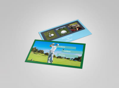 Local Golf Tournament Business Card Template