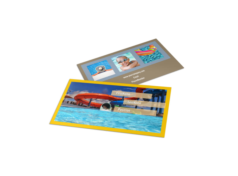 Summer Water Parks Business Card Template Preview 4