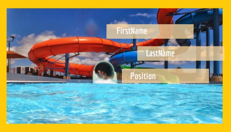 Summer Water Parks Business Card Template Preview 2