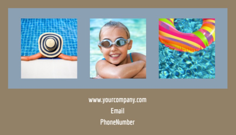 Summer Water Parks Business Card Template Preview 3