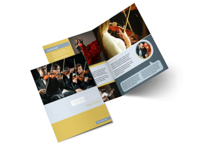 Arts Council & Education Bi-Fold Brochure Template 2