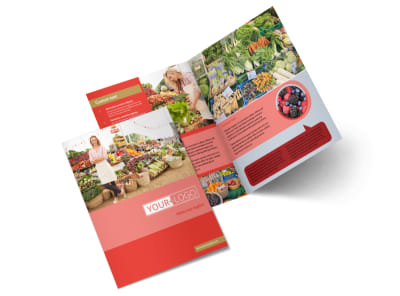 Local Farmers Market Bi-Fold Brochure Template 2