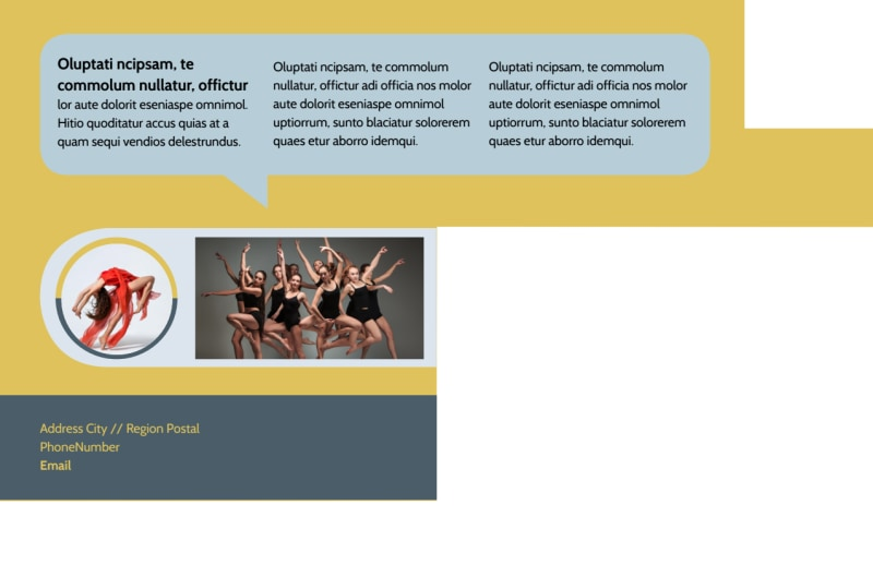 Performing Arts School Postcard Template Preview 3