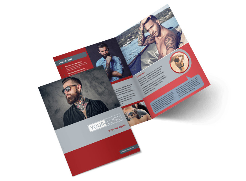 Tattoo Shop Bi-Fold Brochure Template 2