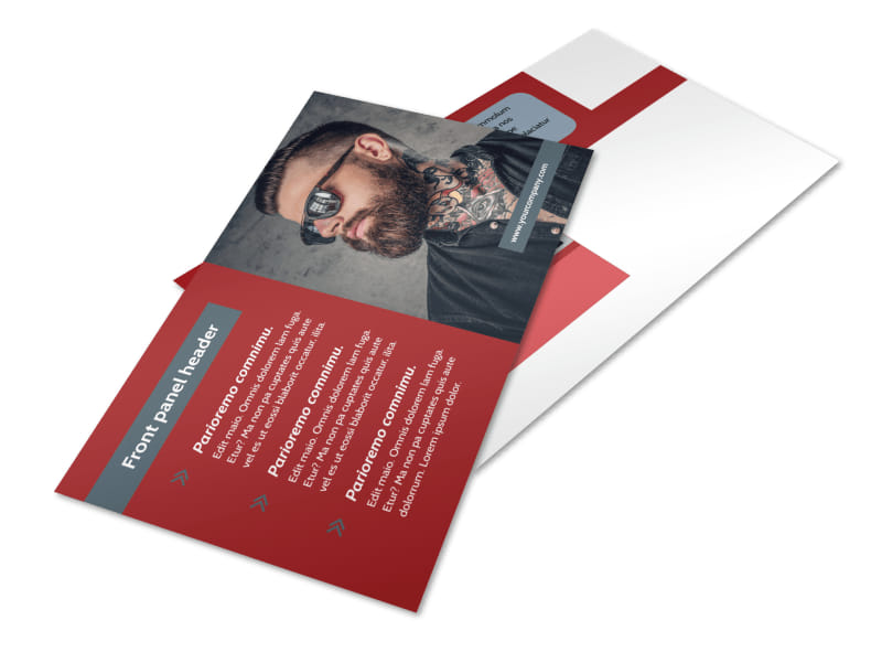 Tattoo Shop Postcard Template 2