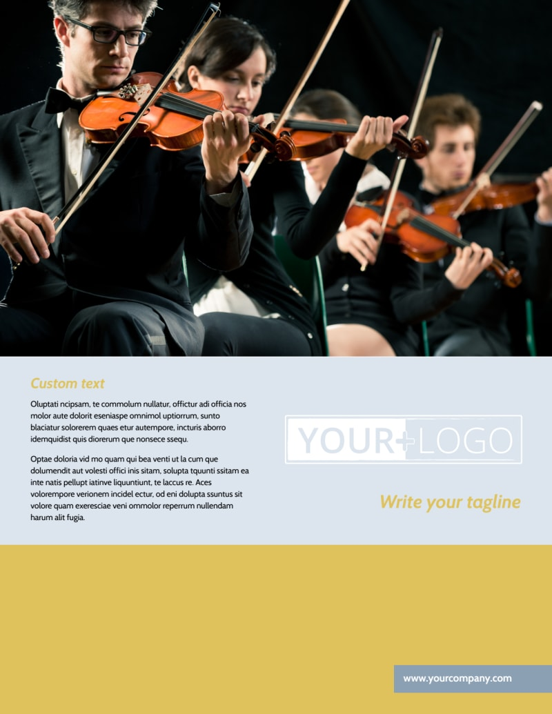 Performing Arts School Flyer Template Preview 2