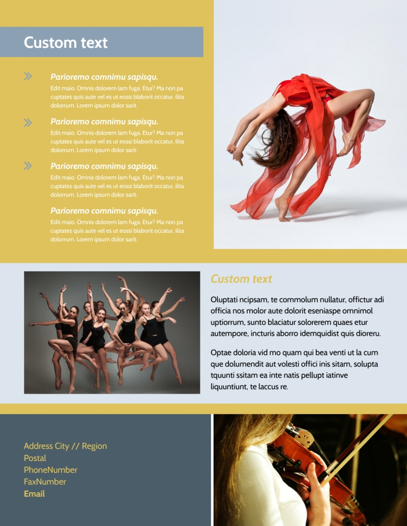 Performing Arts School Flyer Template Preview 3