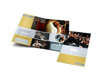 Arts Council & Education Bi-Fold Brochure Template