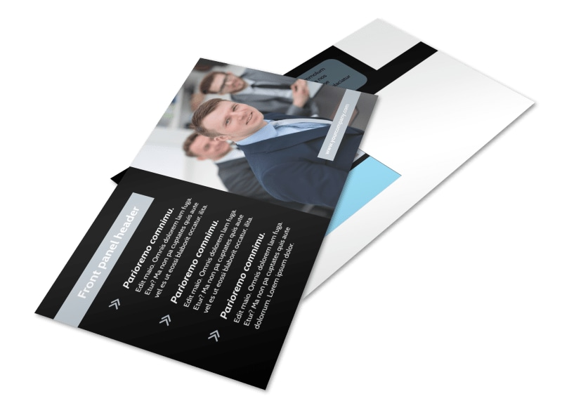 Portfolio Management Postcard Template 2