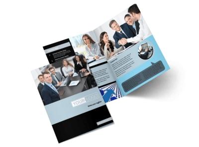 Portfolio Management Bi-Fold Brochure Template 2