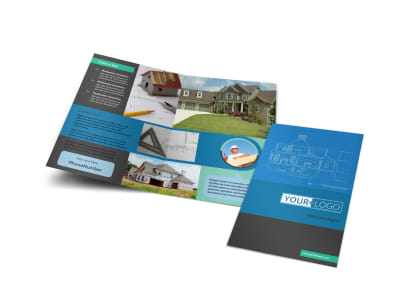 Home Builders & Construction Bi-Fold Brochure Template preview