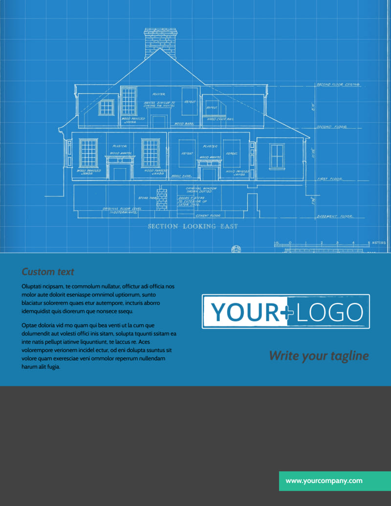 Home Building Contractor Flyer Template Preview 2