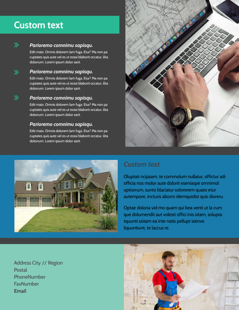 Home Building Contractor Flyer Template Preview 3
