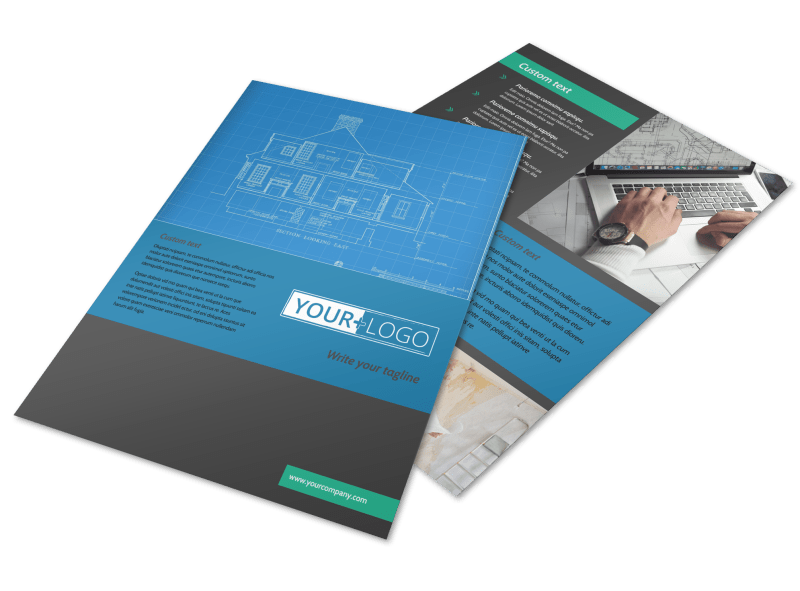Home Building Contractor Flyer Template Preview 1