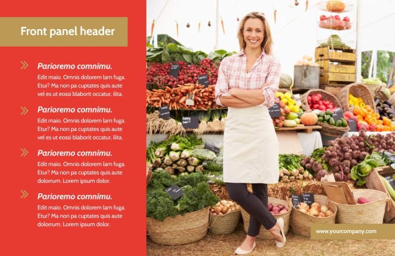Local Farmers Market Postcard Template Preview 2