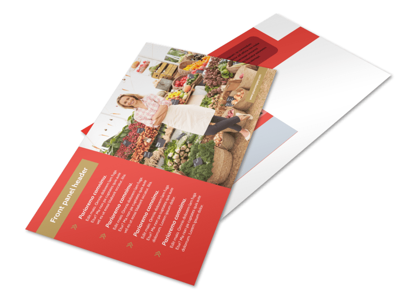 Local Farmers Market Postcard Template Preview 1