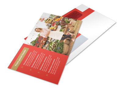 Local Farmers Market Postcard Template preview