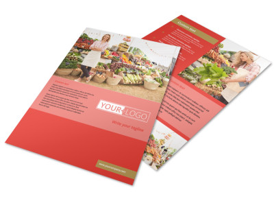Local Farmers Market Flyer Template preview