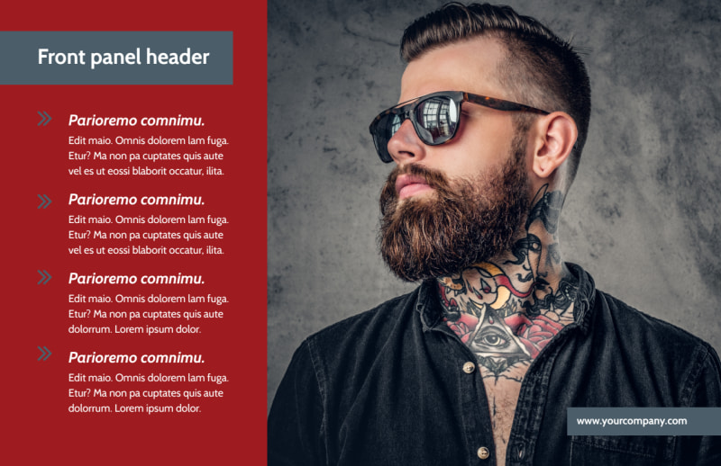 Tattoo Shop Postcard Template Preview 2