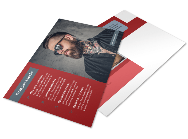 Tattoo Shop Postcard Template Preview 1