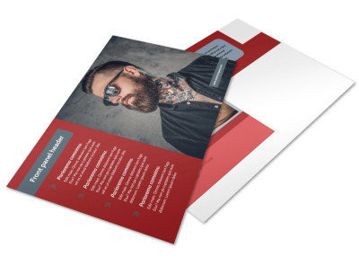 Tattoo Shop Postcard Template preview