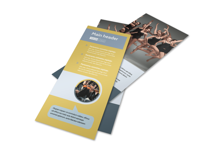 Performing Arts School Flyer Template Preview 1